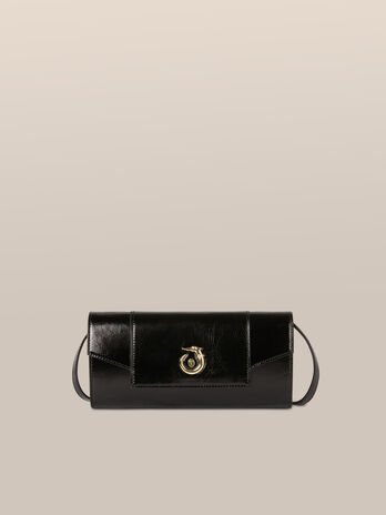 Clutch New Lovy small in pelle athene