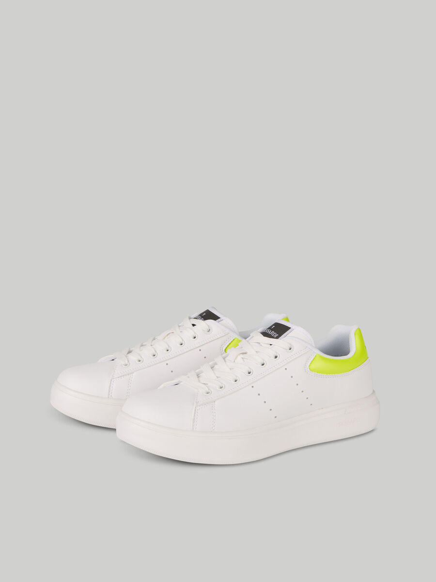 Solid-colour faux leather Yrias sneakers