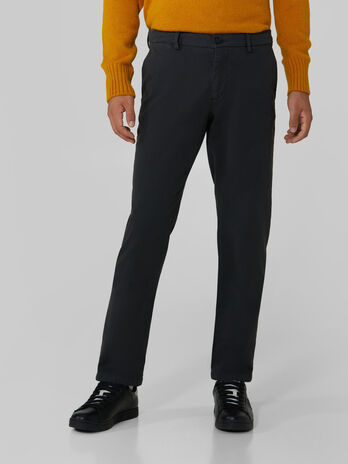 Cotton pique Aviator trousers