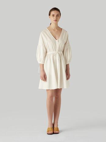 Robe courte en popeline de coton