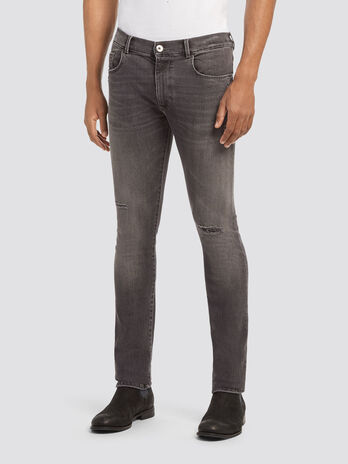 Jean extra slim a abrasions