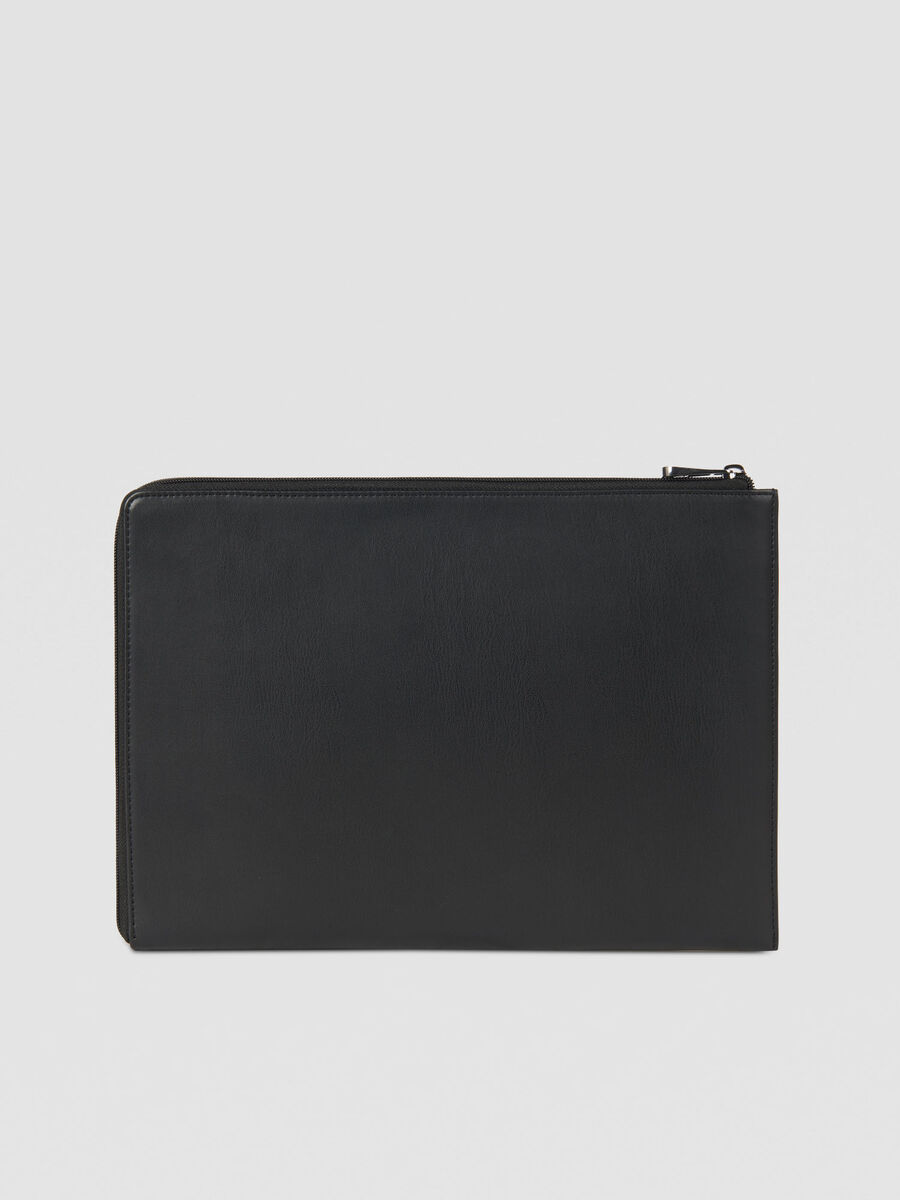 Tici laptop case in solid colour faux leather