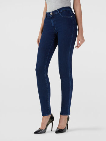 Skinny 105 jeans in stretch satin denim