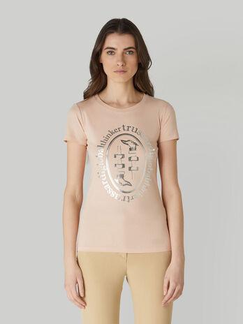 T-shirt coupe slim en coton a imprime lame