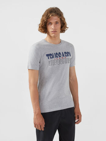 Regular fit jersey T-shirt with lettering