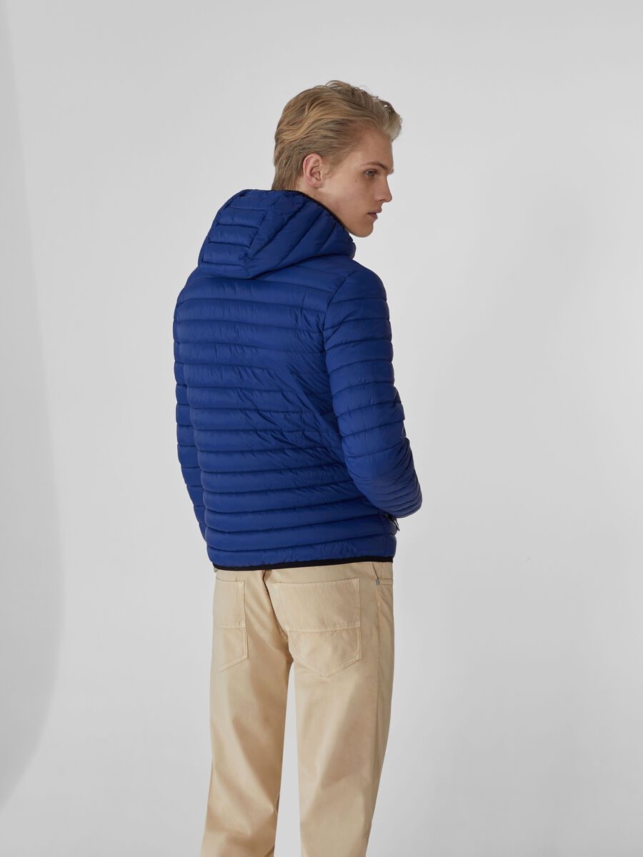 Light nylon down jacket with hood
