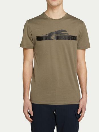 T shirt coupe classique en jersey a lettering et logo