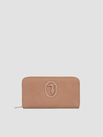 Faux leather Marrakech zip around purse