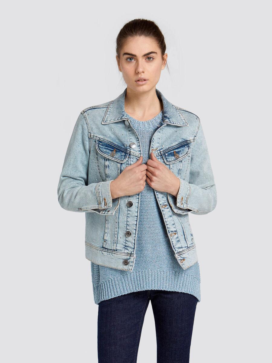 b160983b44 Bright faded denim jacket