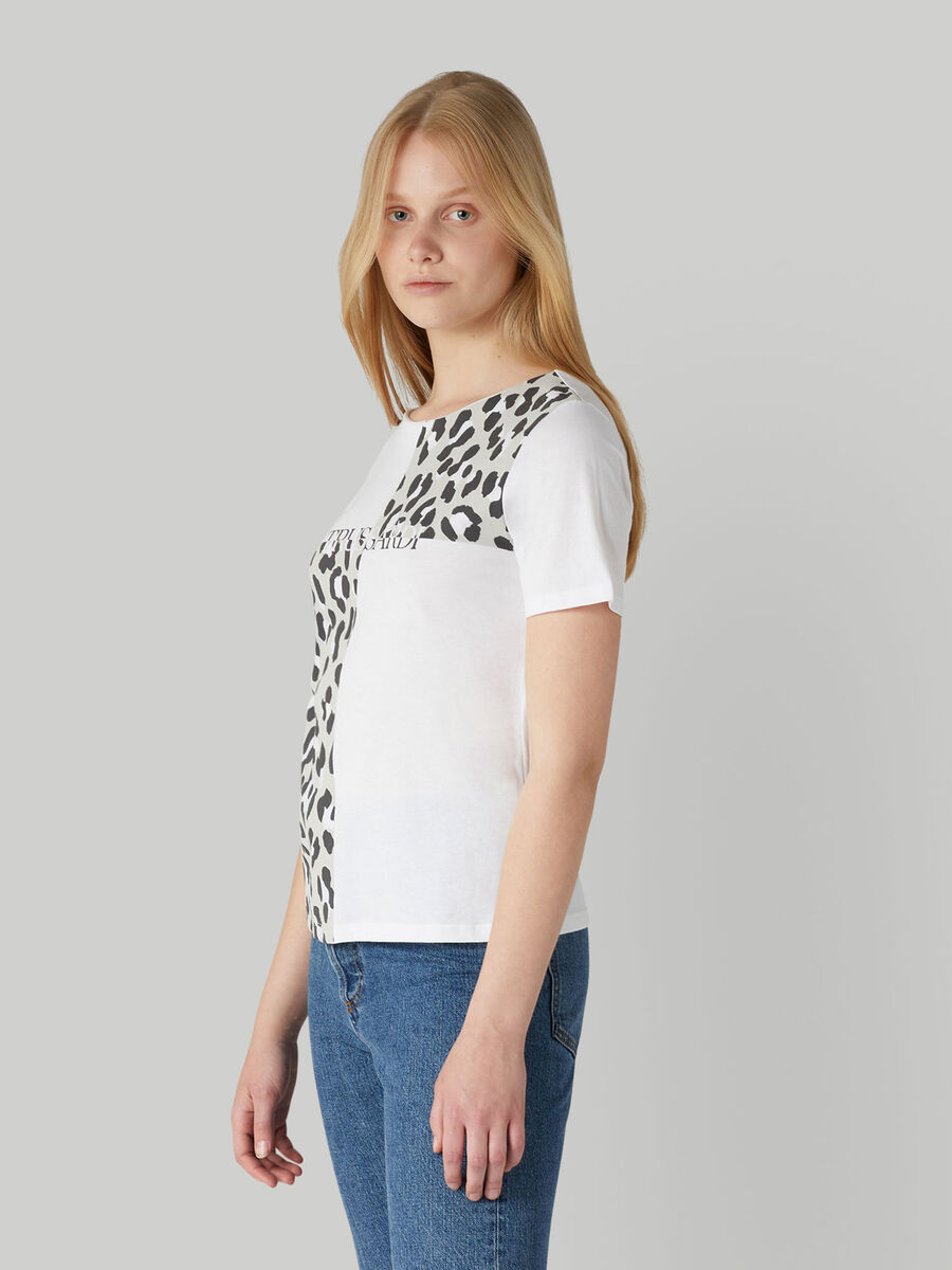 Jersey T-shirt with animal print
