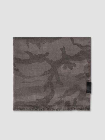 Pashmina en viscose camouflage