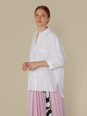 Oversize-Hemdbluse aus technischer Baumwolle