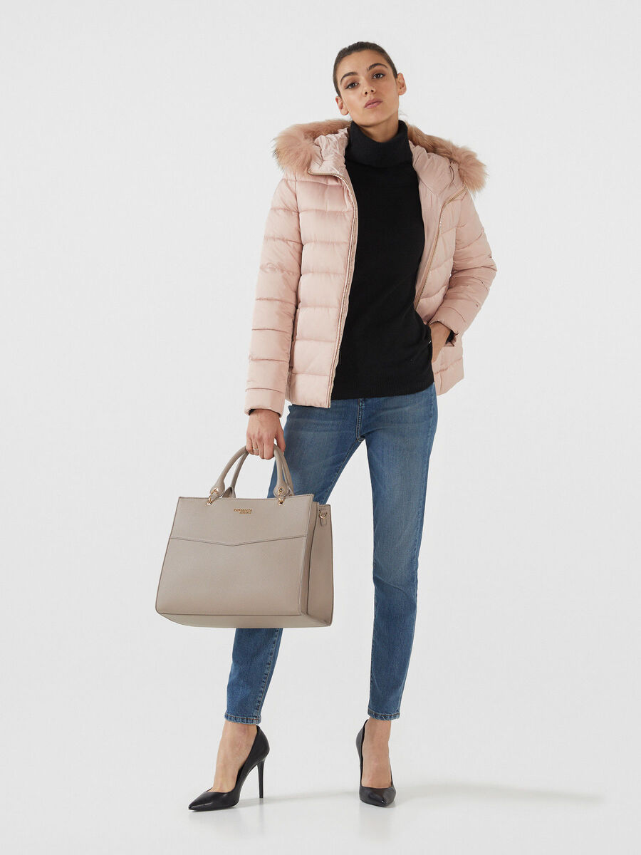 Top handle Charlotte large in similpelle