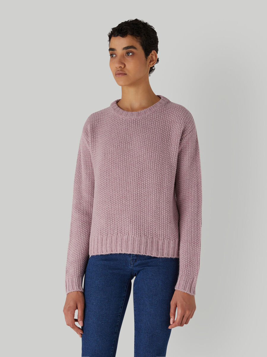 Boxy wool-blend pullover
