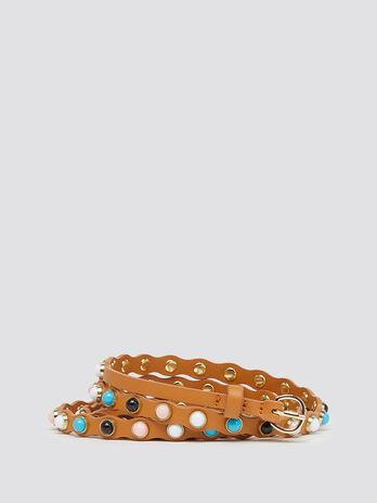 Belt with gemstone details