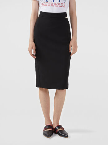 Technical cady pencil skirt