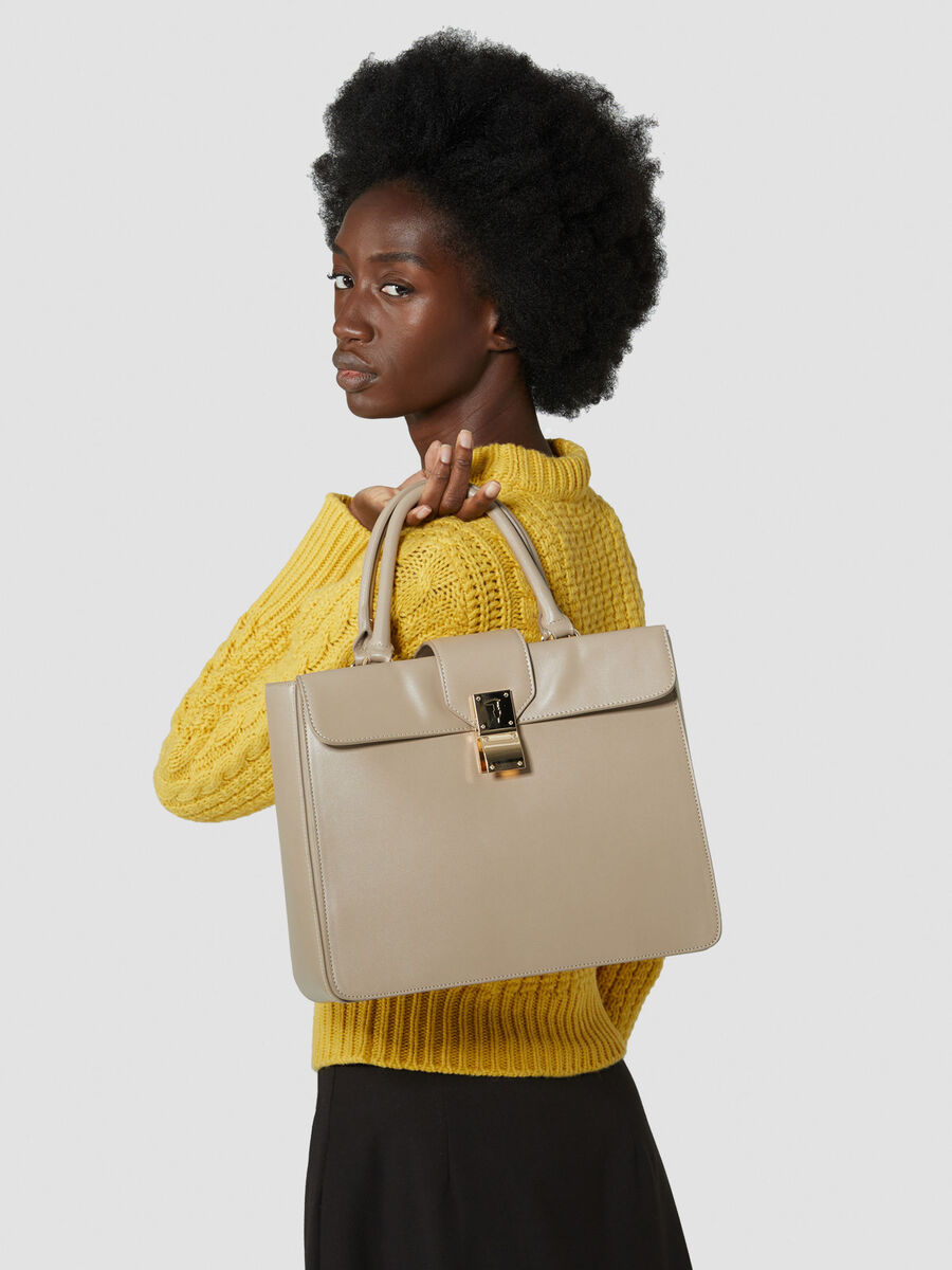 Large faux leather Lione tote bag
