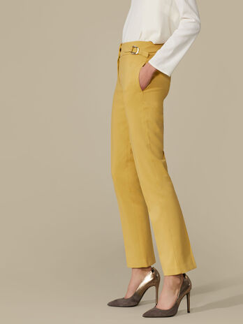 Regular-fit trousers in flowing crepe