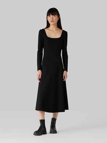 Long compact jersey dress