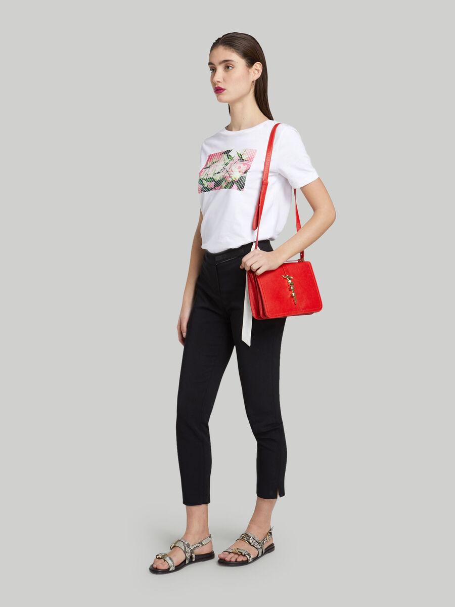 Leila bolso de hombro mediano de piel con levriero