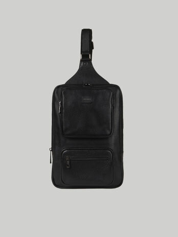 Medium Business one-shoulder backpack in leather