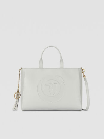 Bolso shopper Faith grande piel sintetica con logotipo