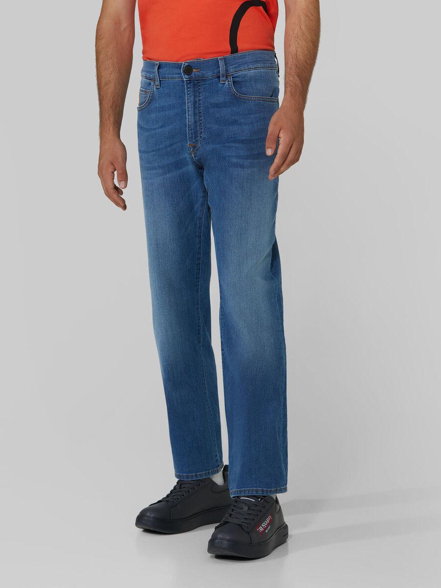 Pantalon long homme jeans TRUSSARDI JEANS article 52J00001 380 ICON DENIM LIGHT