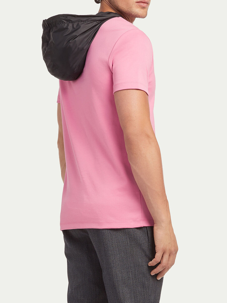 T shirt coupe classique capuche et imprime lettering
