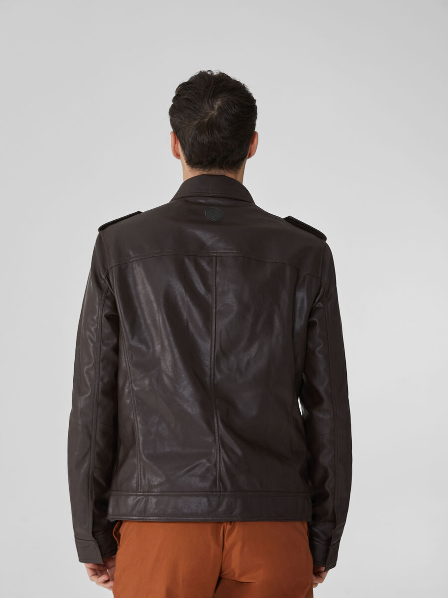 Soft faux leather jacket