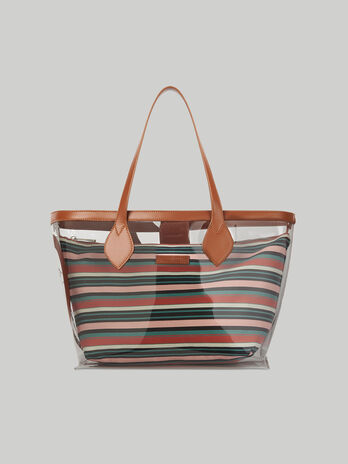 Medium Logo Pop shopper in PVC and canvas