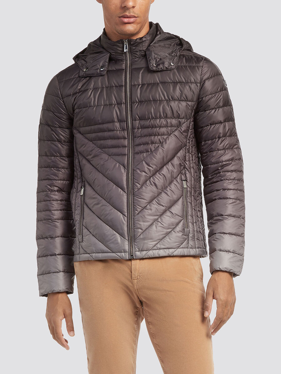 Regular fit down jacket in degrade nylon