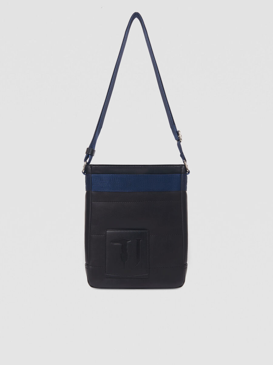 Medium faux leather Tici reporter bag