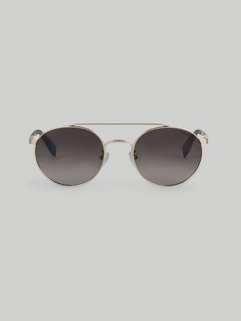 Occhiali da sole tondi in metallo