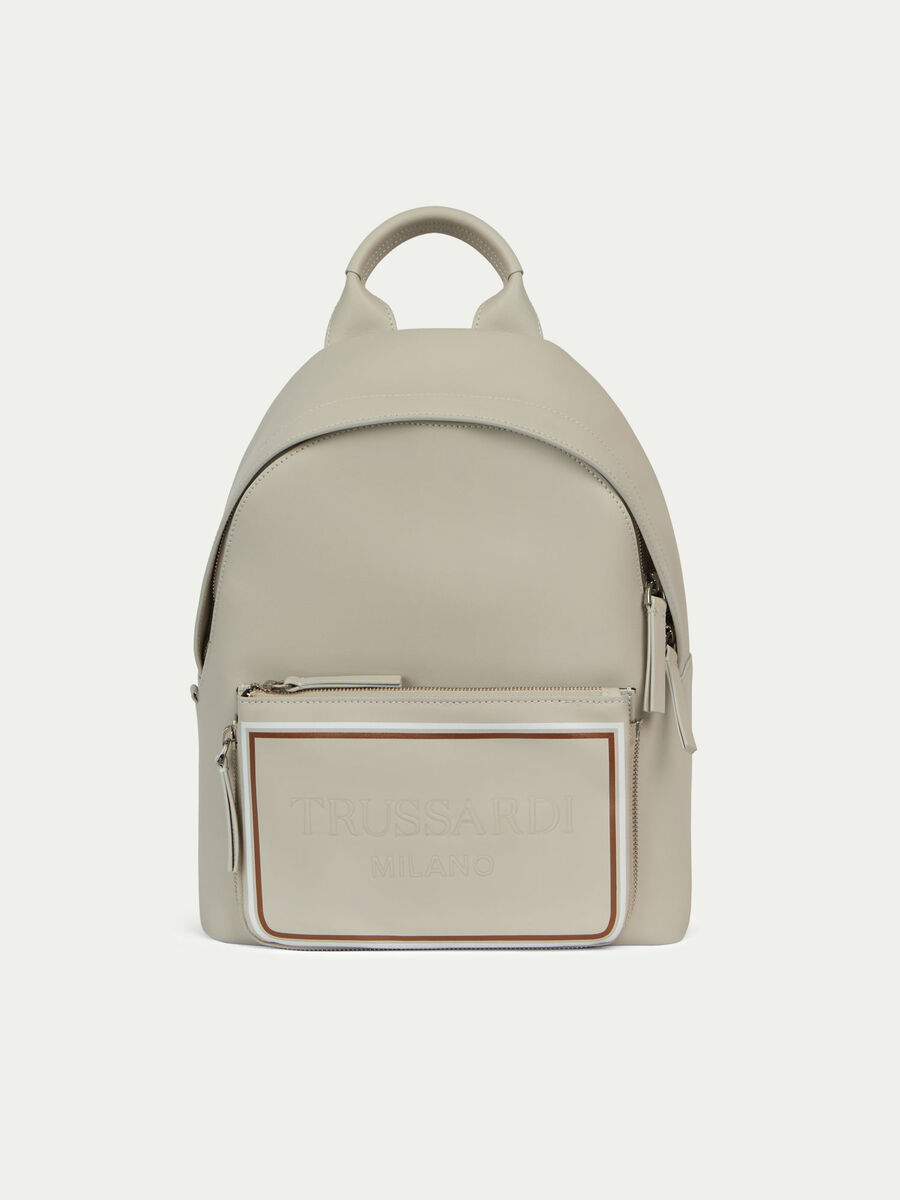 Small unisex backpack in soft Arno leather