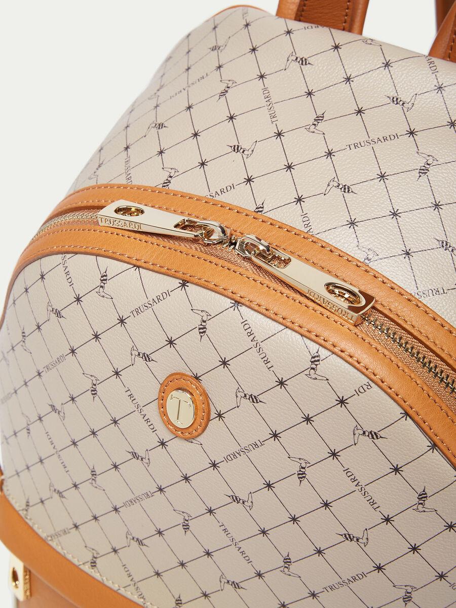 Mini sac a dos Monogram en cuir Crespo