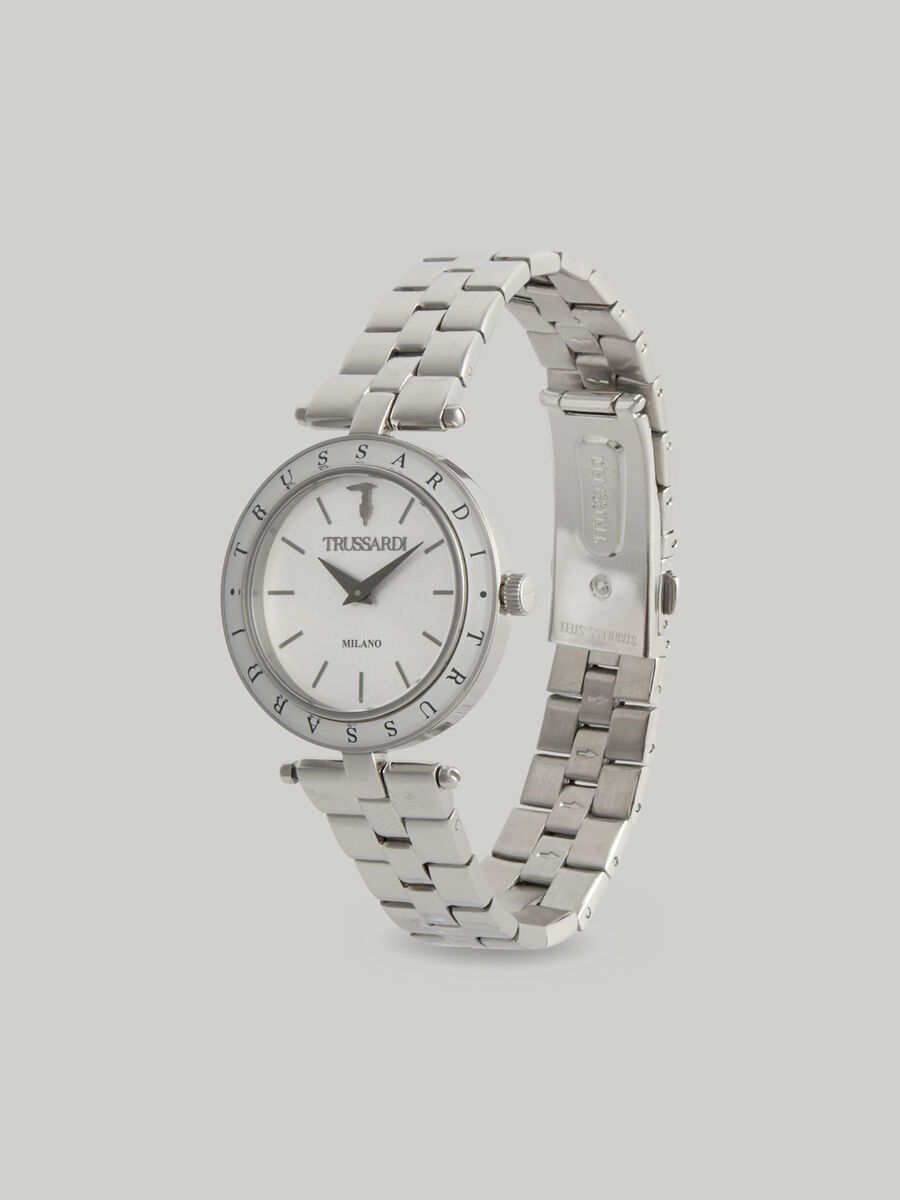 34 MM T-Shiny watch with steel strap