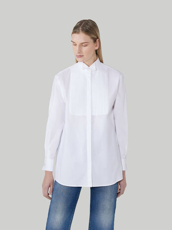 Chemise de smoking en coton oxford