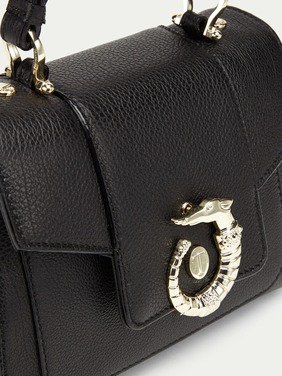 Mini Icon bag Lovy in pelle tinta unita con levriero