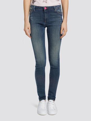 Jeans Up Fifteen aus Denim mit fuenf Taschen