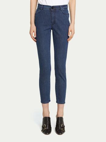 e161f5ade76f48 Jeans skinny denim a vita alta con cinque tasche