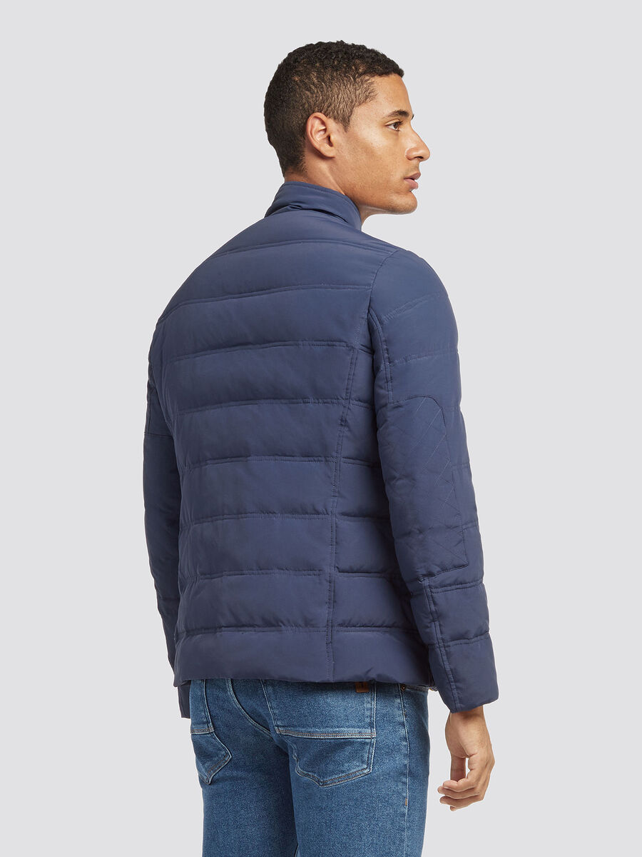 Regular fit crinkle nylon jacket
