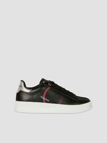 Leather Anemone sneakers with logo