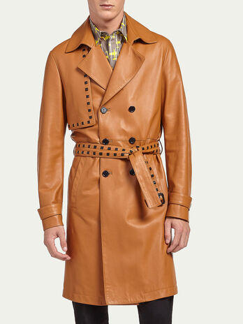 Regular fit lambskin coat
