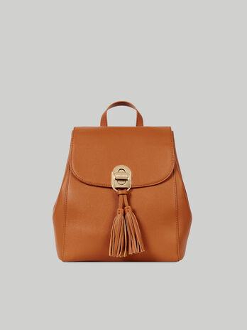 Medium faux leather Boston backpack