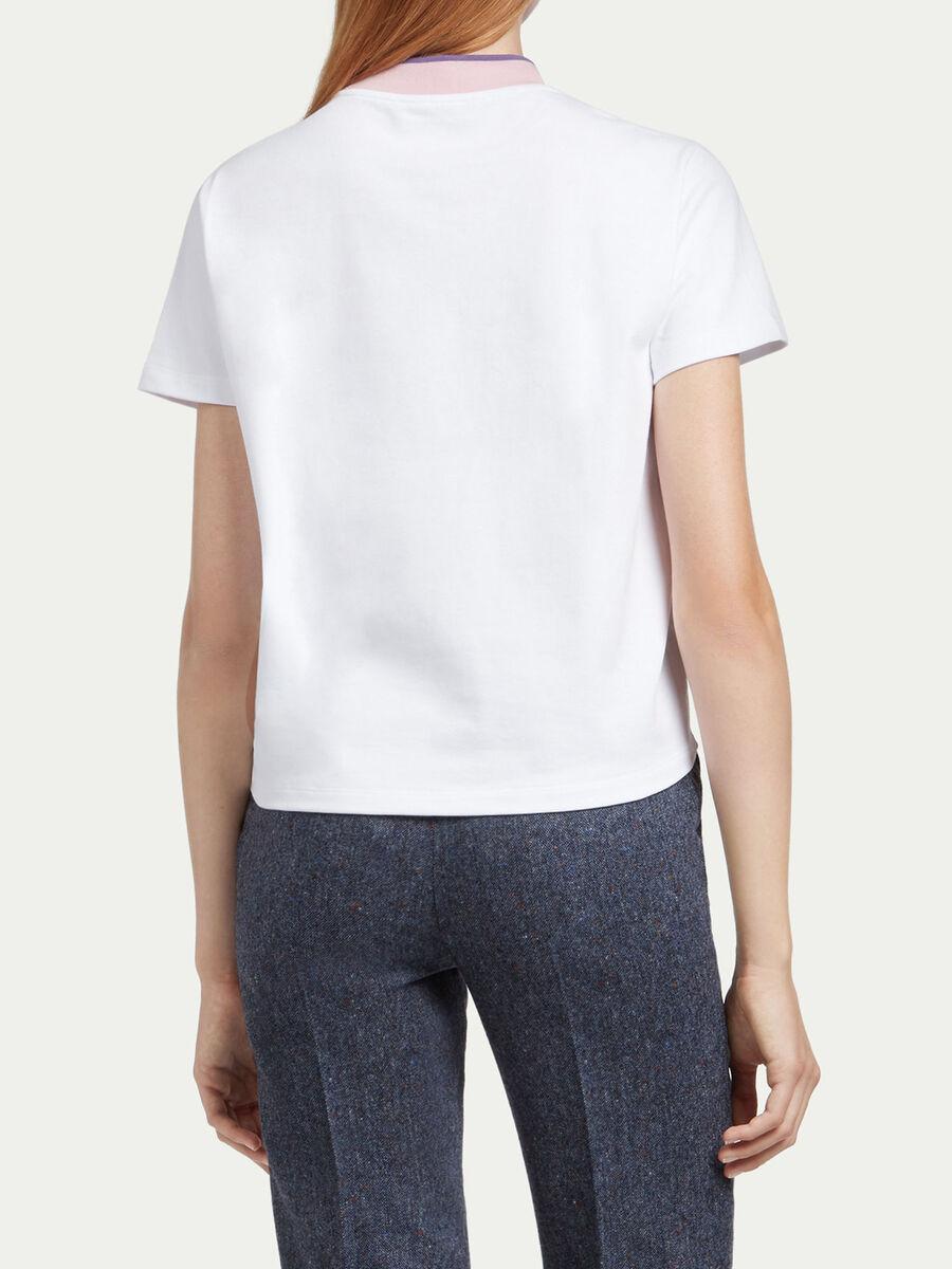 T Shirt aus Jersey mit Logo Einsatz