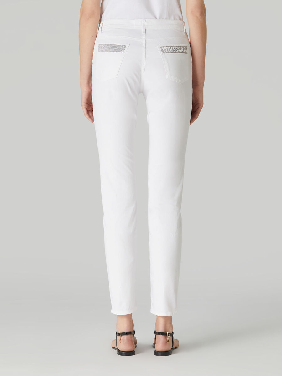 Skinny 105 trousers in cotton gabardine