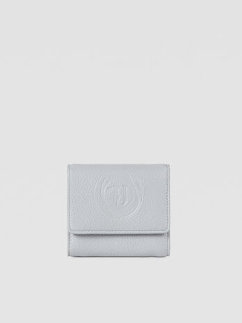 Faith bifold purse in faux leather with logo