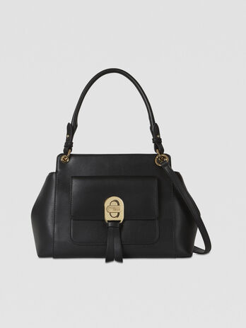 Mya shoulder bag in smooth faux leather