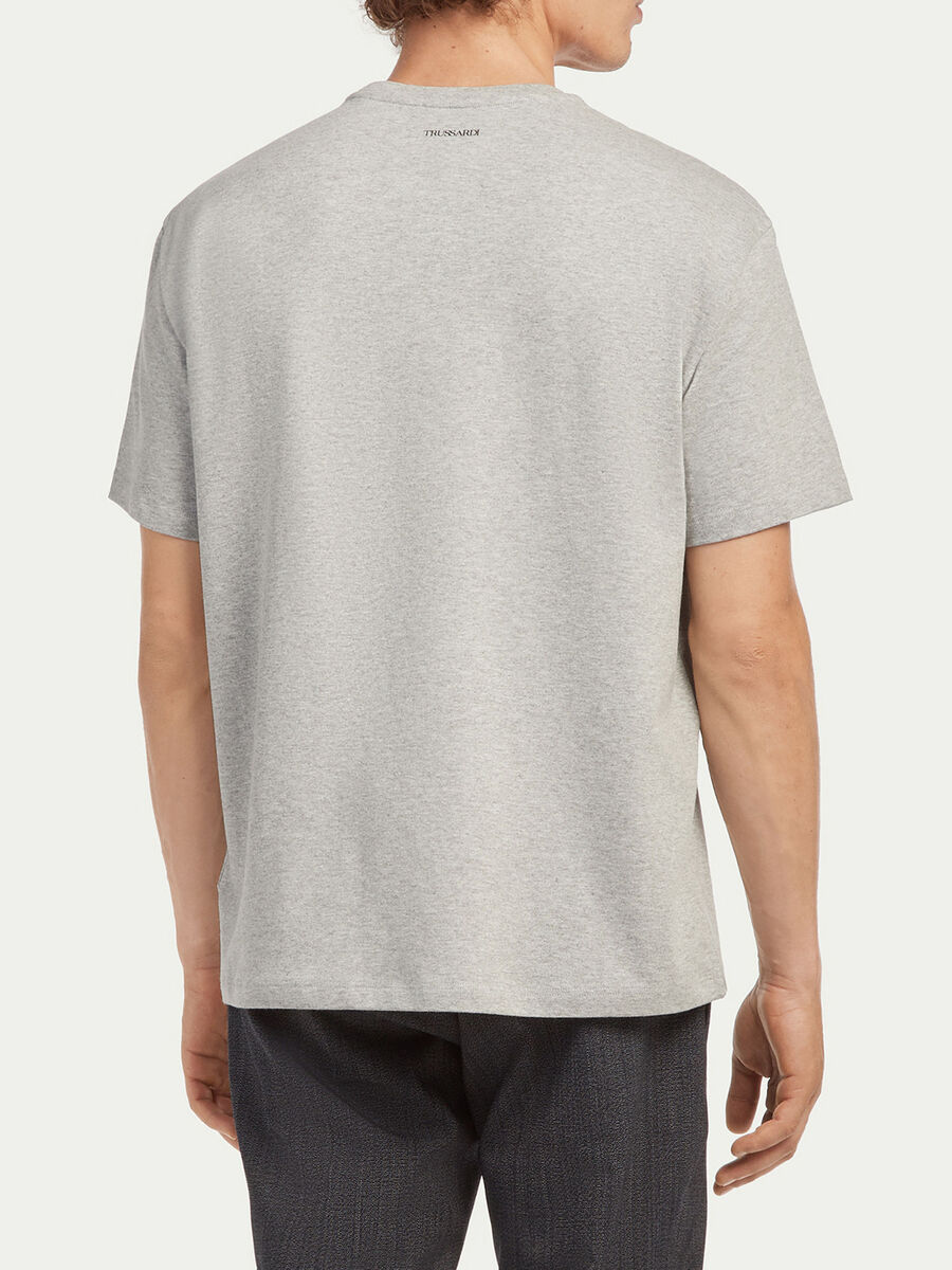 Oversized compact jersey T shirt with lettering