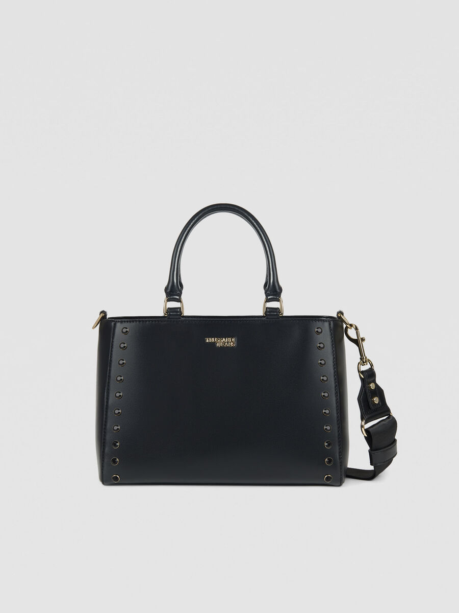 Medium T-Easy Shine tote bag in faux leather